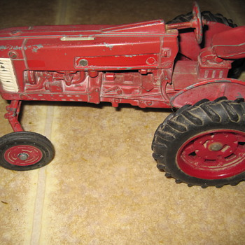 Old Ertl Toy Metal Tractor - Model Cars