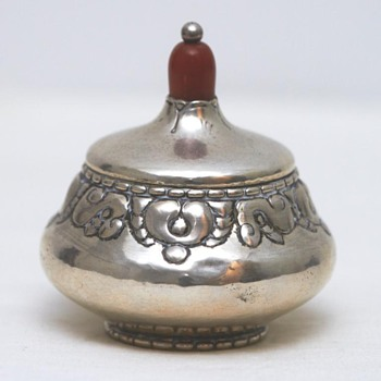 Silver Bonbonnière with Amber (Denmark), ca. 1910   - Kitchen