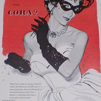 1954 Cora Vermouth Advertisement - Advertising