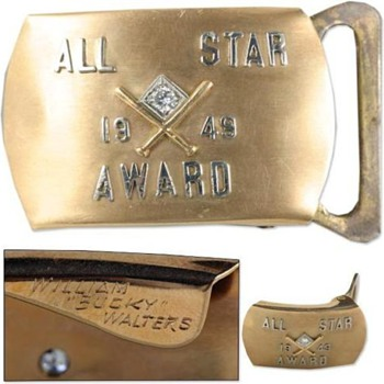 Bucky Walters 1949 All-Star Game Award - Baseball