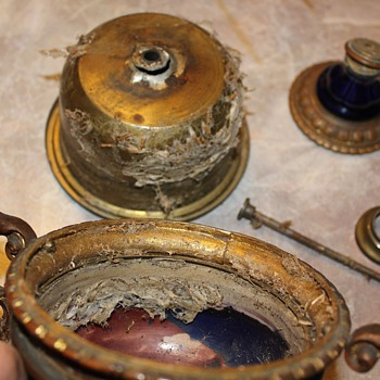 Potttery and Brass/Bronze oil lamp Part 2
