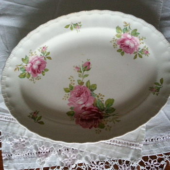 Pretty Pink Rose Platters... - China and Dinnerware