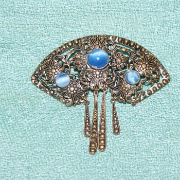 Rescue Piece:  Vintage Brooch Marked Czec 10 or Czecho - Costume Jewelry
