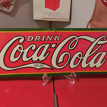 1930 Coca-Cola Tin Sign by Dasco