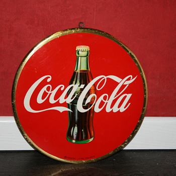 coca cola celluloid sign - Coca-Cola