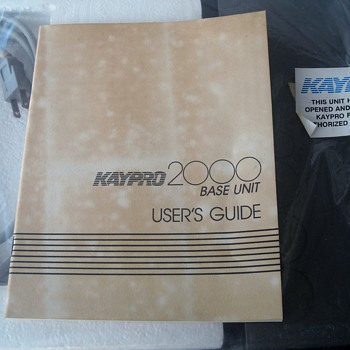 Kaypro 2000 Base Unit Part # 81-041 Original Box 1980's Docking Station - Office