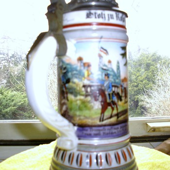 1886 - 1899 Regimental German Stein - Breweriana