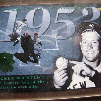 Micky Mantle Jumbo  Anniversary Card - Baseball