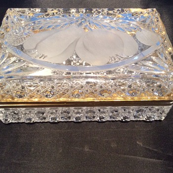 Vintage cut glass dressing table box? - Glassware
