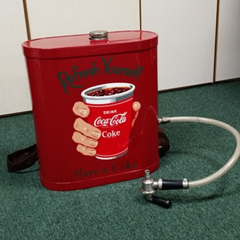 Coca Cola Drink back pack Dispenser