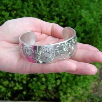 Kirk Steiff Pewter Cuff Bracelet - Costume Jewelry