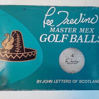Very Rare Lee Trevino Golf Balls