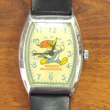 "1950 Ingraham ""Woody Woodpecker"" Watch - Wristwatches"