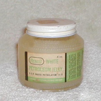 1960's Rexall White Petroleum Jelly Jar - Advertising