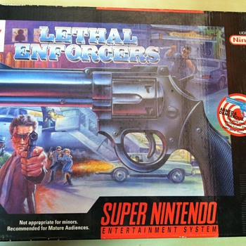"Konami ""Justifier"" Light Gun for SNES"