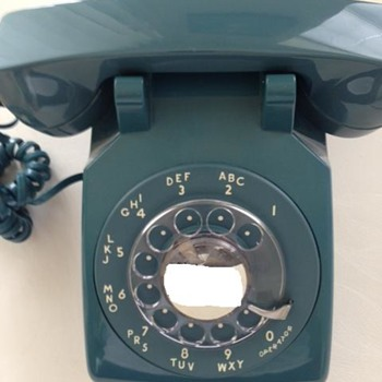 Rotary Telephone Model 500 Mediterranean Blue Western Electric