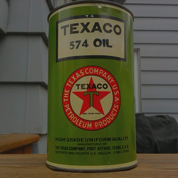 Texaco 574 Oil Can