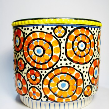 CZECH ART DECO FLOWER POT/1920's-1930's - Art Deco
