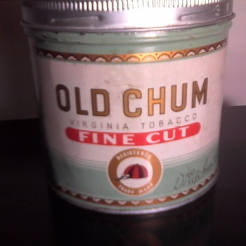 """OLD CHUM"" Tobacco Tin - Tobacciana"