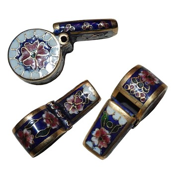 Cloisonne Enamel & Brass Whistle - Musical Instruments