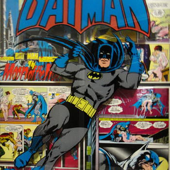 RARE BATMAN AND WONDER WOMAN 3D ART 1974