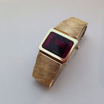 Vintage 1970's LED Digital Wristwatch