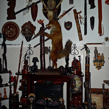my new taxidermy fox approx 1960's