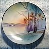 "Japanese 8 "" Nippon Landscape Plate / Green Crown Mark Circa 1891-1921"