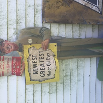 Not sure what we have here... 1920's-30's antique signs.  Really not versed on this kind of thing and would love any input! - Signs