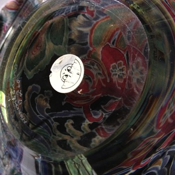 Unusual sticker on a PL Holmegaard... - Art Glass
