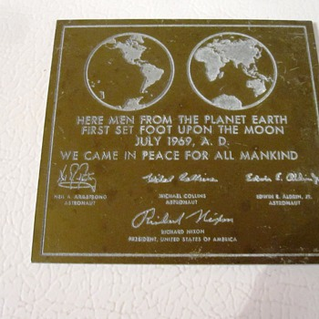Vintage Moon Plaque Reproduction - Military and Wartime