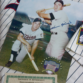 My Harmon Killebrew autograph.