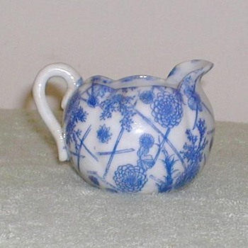 Blue &amp; White Pitcher