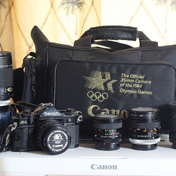 For NevadaBlades...... 1984 Canon A-1 and few Lenses - Cameras