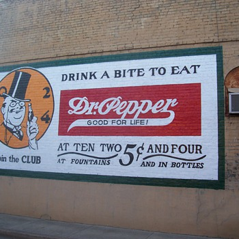 This sign has been in place since 1906. I have repainted it twice in the last 20 years - Advertising