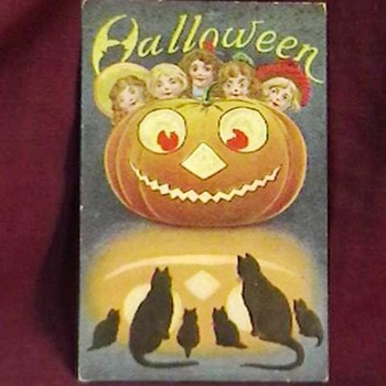 Vintage Halloween Postcards - Postcards