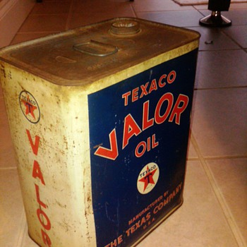 Texaco Valor oil can - Petroliana