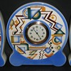 Typical patterns on pottery in the Art Deco style. (here on a mantel clock)