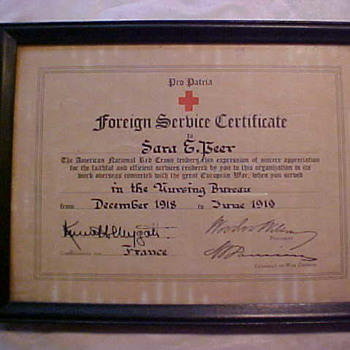 Foreign Service Certificate Woodrow Wilson Signature