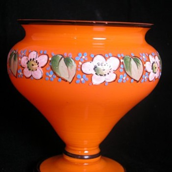LOETZ ENAMELLED TANGO VASE - Art Glass