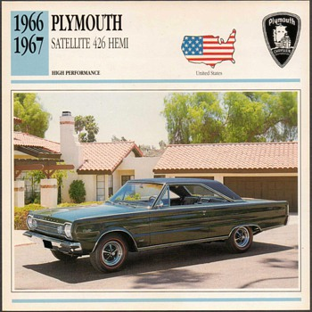 Vintage Car Card - Plymouth Satellite