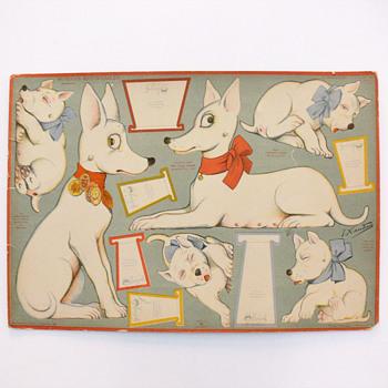 Xaudaró dog paperdoll sheet (1927) - Paper