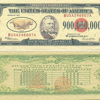 Silver Certificate Series of 1934 - US Paper Money