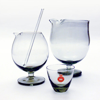 Two TIVOLI cocktail mixers, Per Ltken (Holmegaard, 1958)
