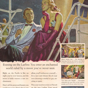 1948 - Matson Lurline Cruise Liner Advertisement