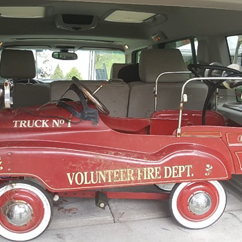 Gearbox Pedal Car Volunteer Fire Truck No 1 - Toys