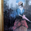 Who Painted This Woman With A Pink Umbrella?