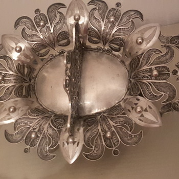 A superb antique silver filligree - Sterling Silver