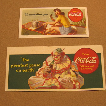 Coca-Cola Blotters - Coca-Cola