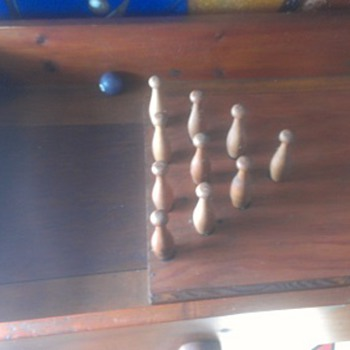 Vintage Bowling Game and Table